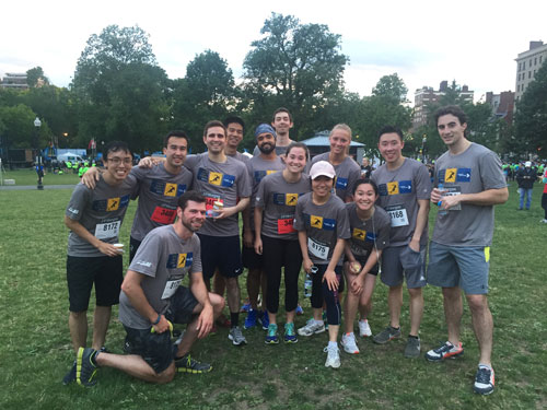 Putnam's J P  Morgan Corporate Challenge Team Finishes Strong