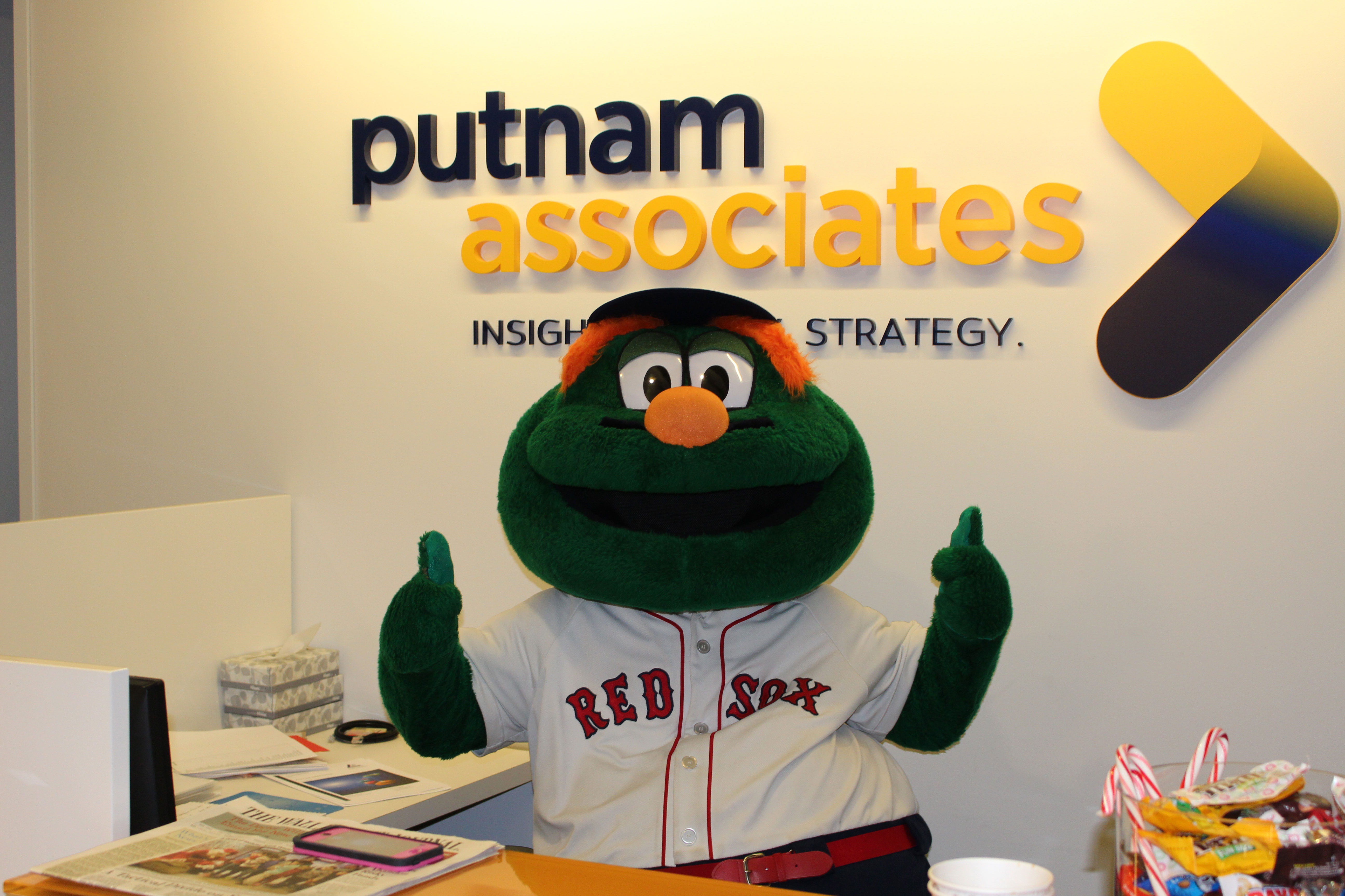 Wally The Green Monster Stops By For A Visit Putnam Associates